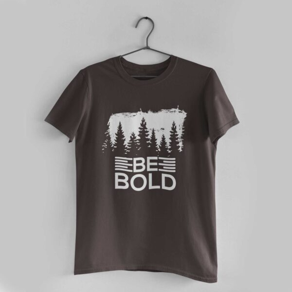 Be Bold Charcoal Grey Round Neck T-Shirt
