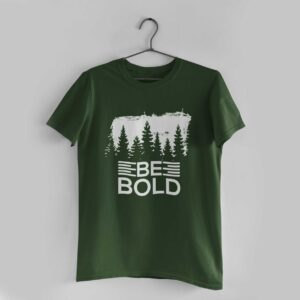 Be Bold Olive Green Round Neck T-Shirt