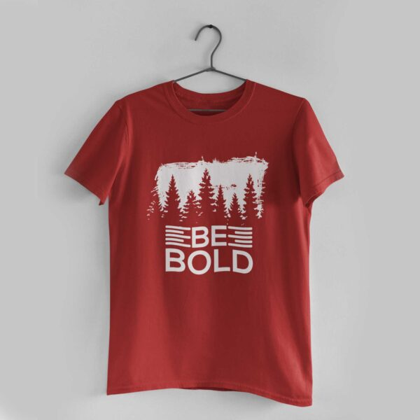 Be Bold Red Round Neck T-Shirt