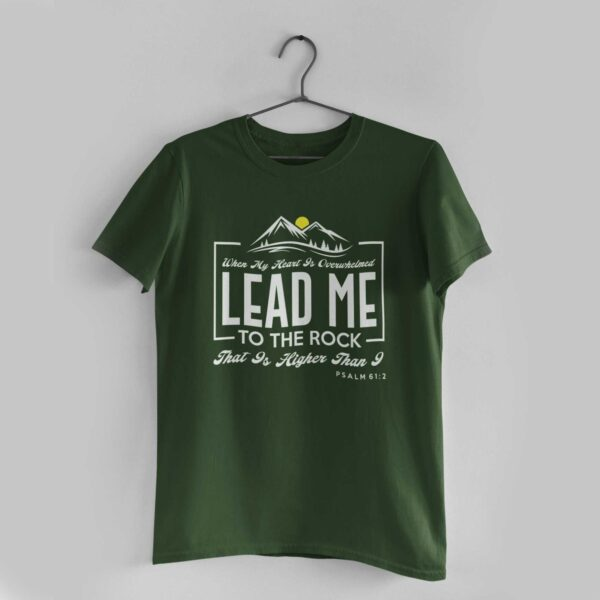 Lead Me Olive Green Round Neck T-Shirt