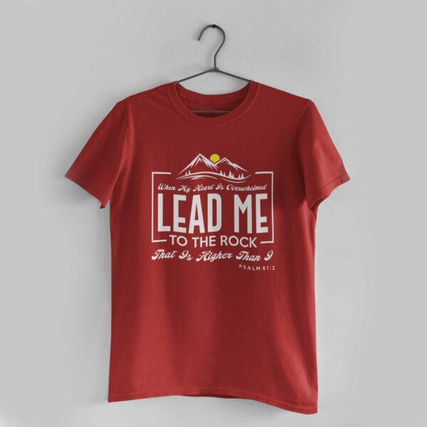 Lead Me Red Round Neck T-Shirt