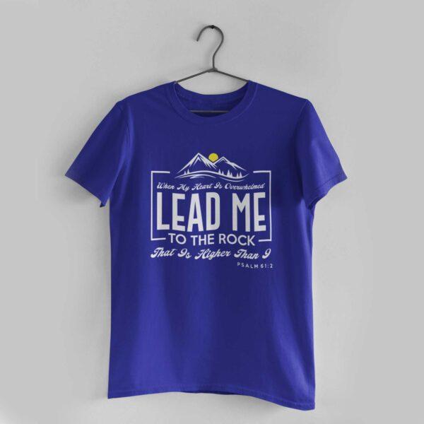 Lead Me Royal Blue Round Neck T-Shirt