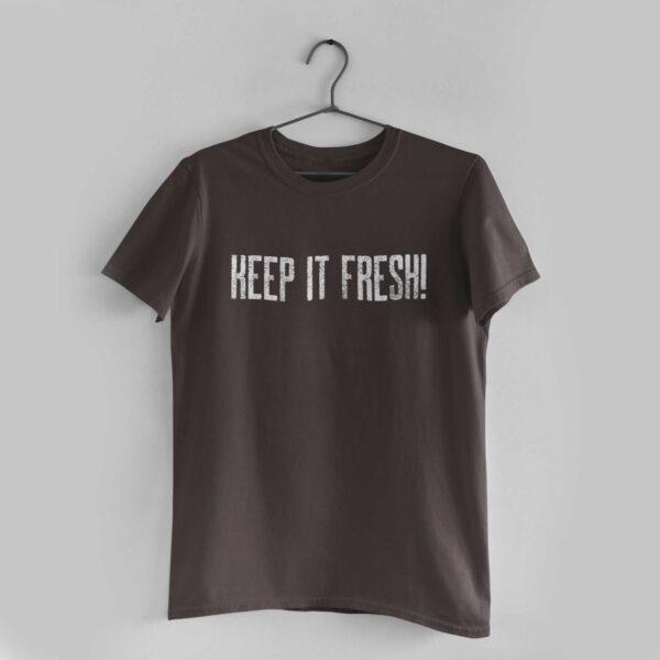 Keep It Fresh Charcoal Grey Round Neck T-Shirt