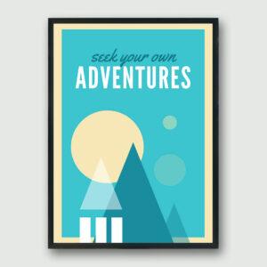 Adventures Framed Poster