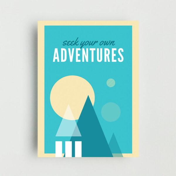 Adventures Non Framed Poster