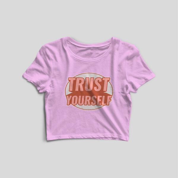 Trust Yourself Light Pink Crop Top