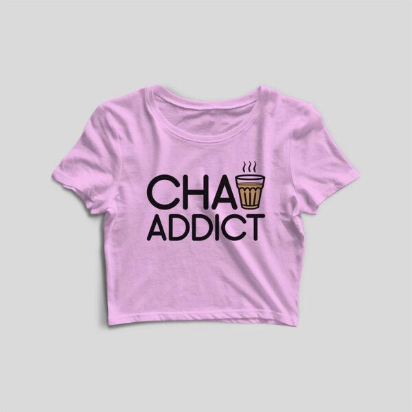 Chai Addict Light Pink Crop Top