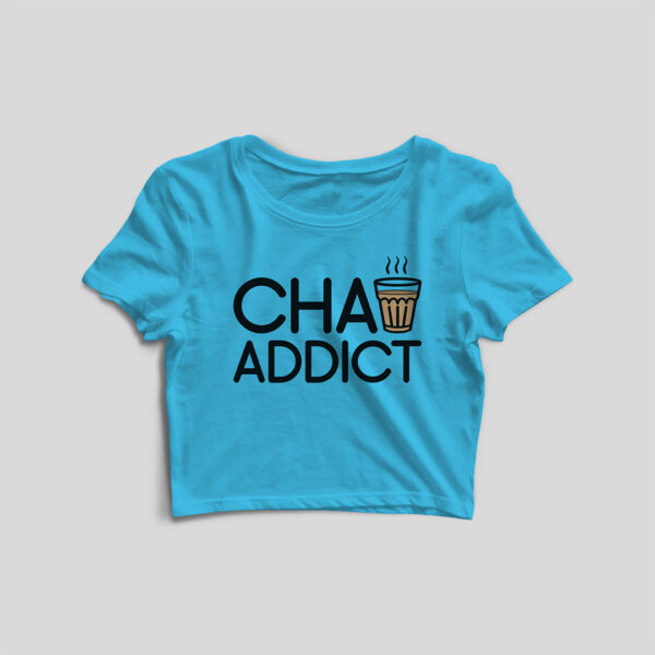 Chai Addict Sky Blue Crop Top