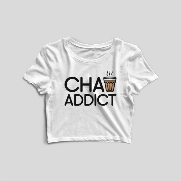 Chai Addict White Crop Top