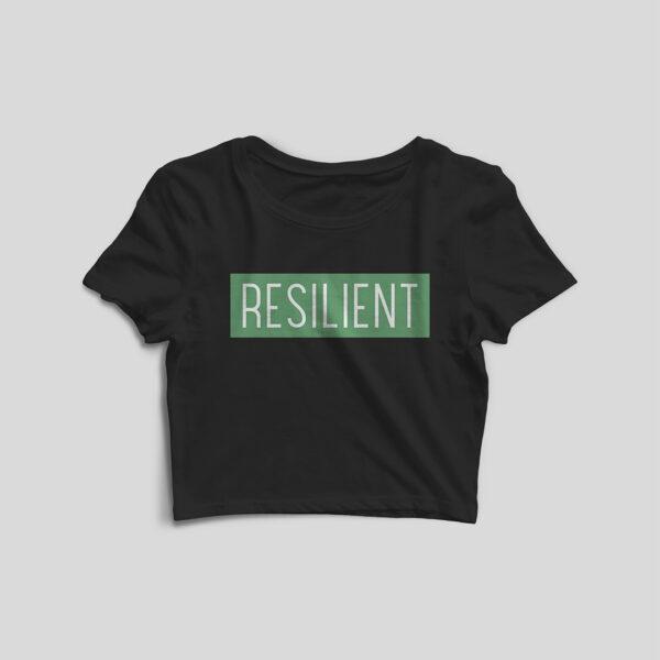 Resilient Black Crop Top