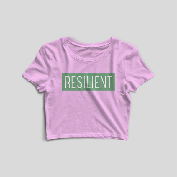 Resilient Light Pink Crop Top
