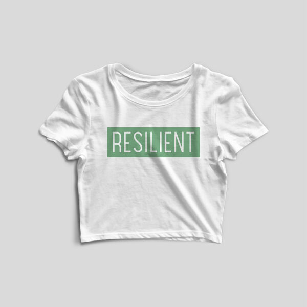 Resilient White Crop Top