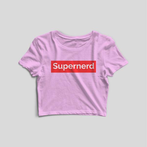 Supernerd Light Pink Crop Top