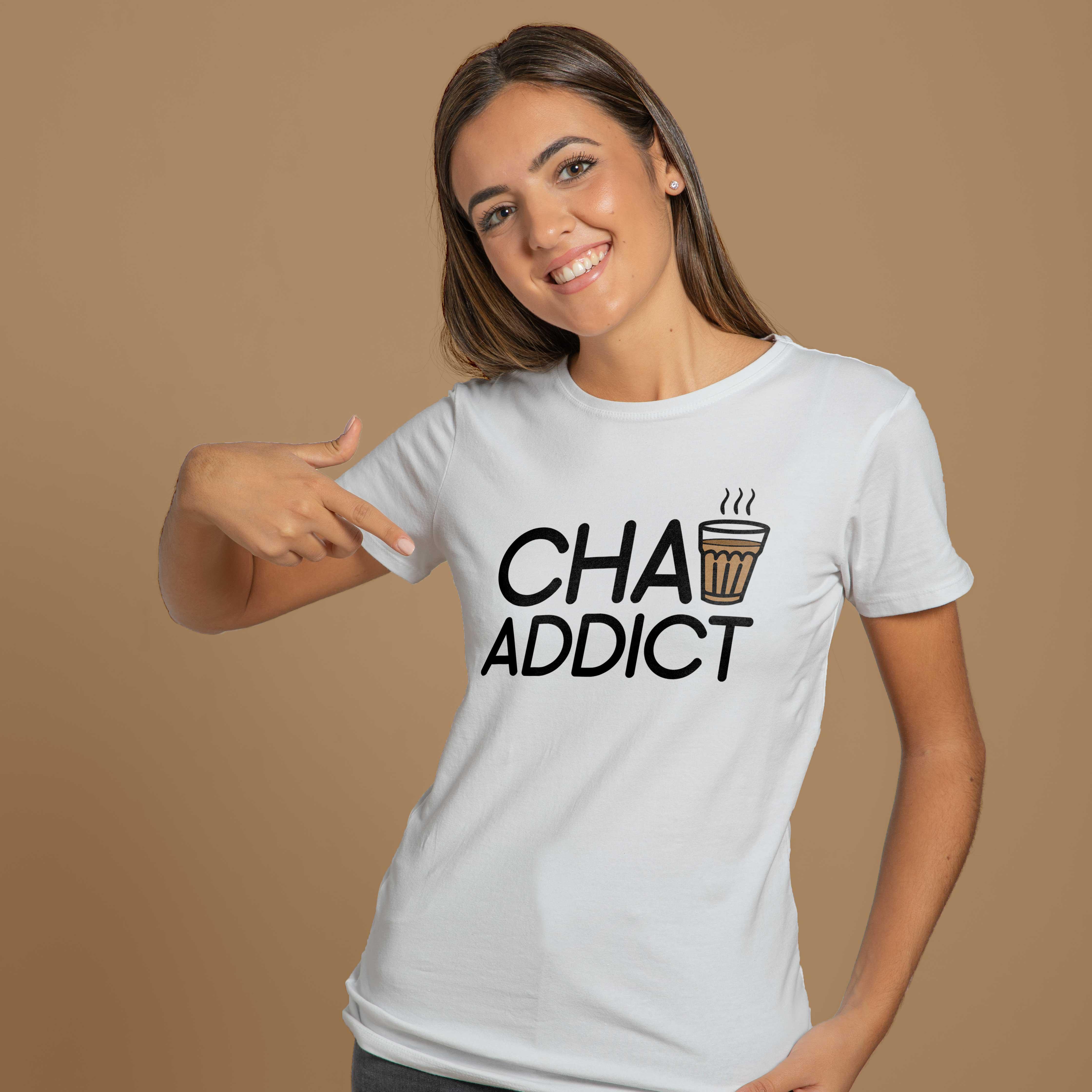 Chai Addict Women Round Neck T-Shirt