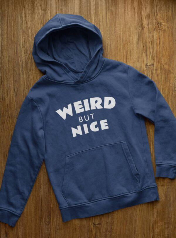Weird But Nice Navy Blue Hoodie