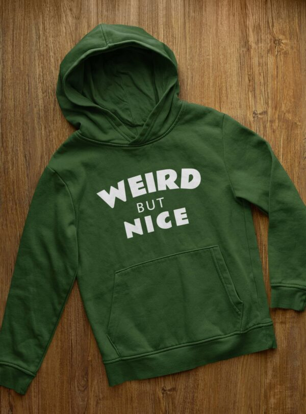 Weird But Nice Olive Green Hoodie