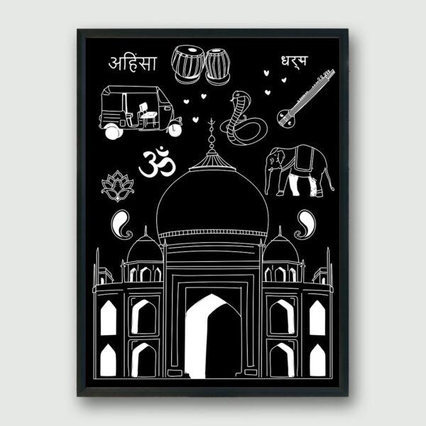 India Framed Poster