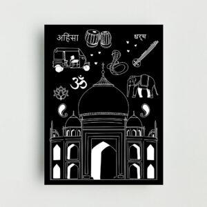 India Non Framed Poster