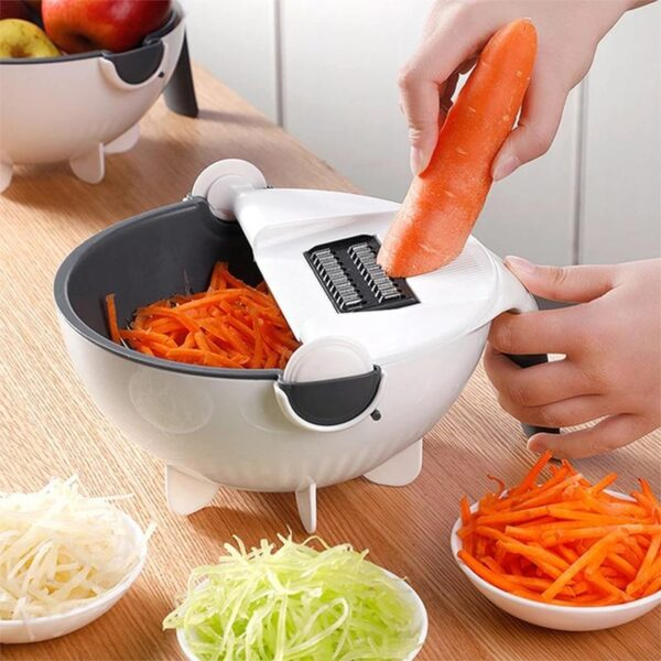 Multi-Function Vegetable Cutter With Drain Basket