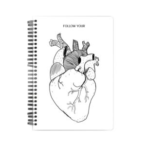 Follow Your Heart Spiral Notebook Front