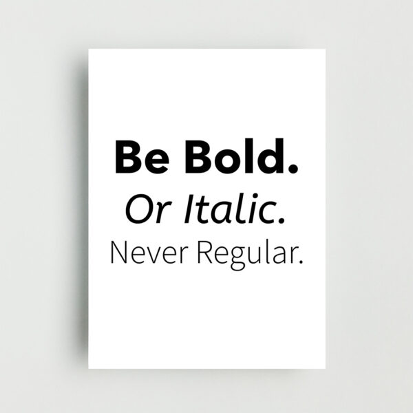 Never Regular Non Framed Poster