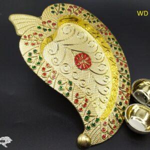 Pooja Leaf Thali WD – 11 (18 X 12 Cm)