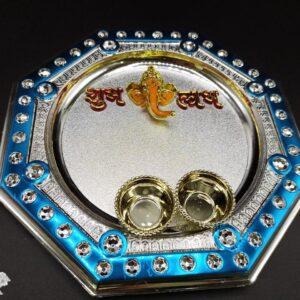 Pooja Thali WD – 1LGS (19.5 Cm)