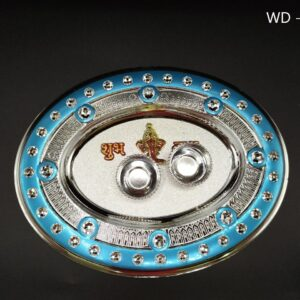 Pooja Thali WD – 2LGS (21 X 17 Cm)