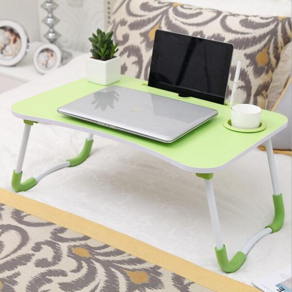Portable Folding Bed Laptop Table (Green)