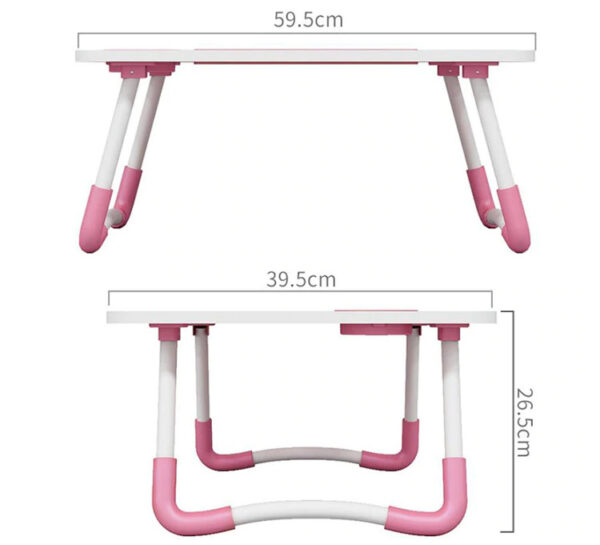 Portable Folding Bed Laptop Table (Pink)