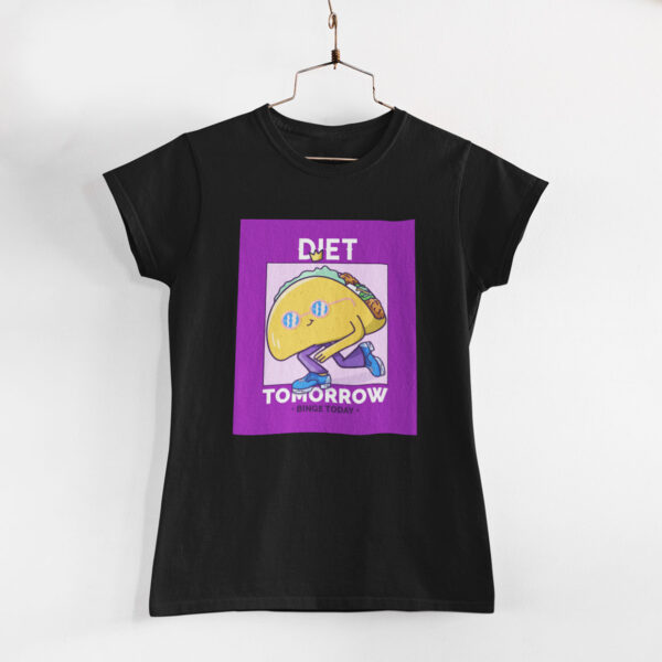 Binge Today Women Black Round Neck T-Shirt