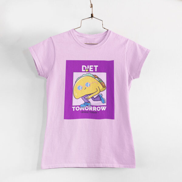 Binge Today Women Light Pink Round Neck T-Shirt