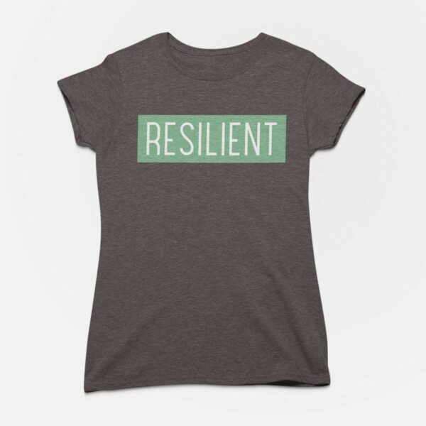 Resilient Women Charcoal Grey Round Neck T-Shirt