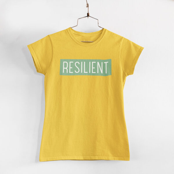 Resilient Women Golden Yellow Round Neck T-Shirt