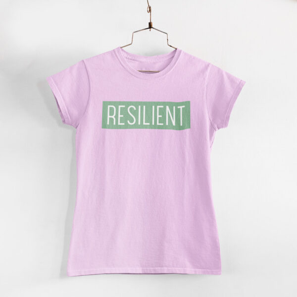 Resilient Women Light Pink Round Neck T-Shirt