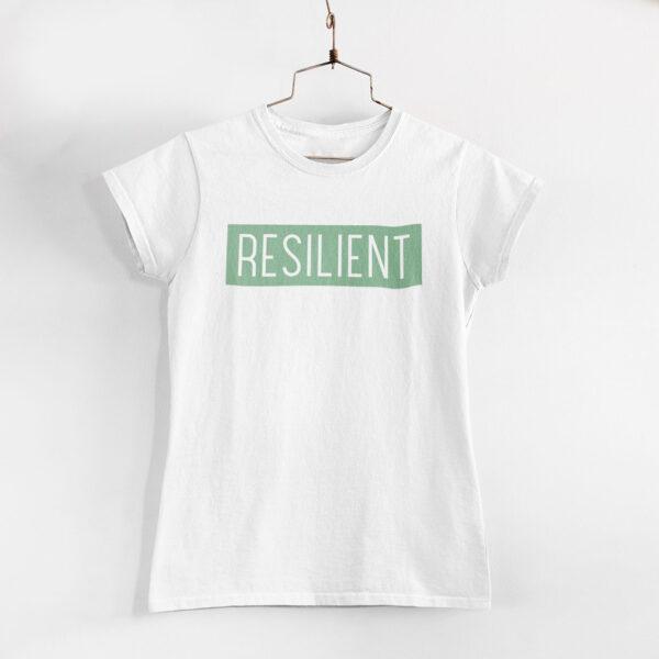 Resilient Women White Round Neck T-Shirt
