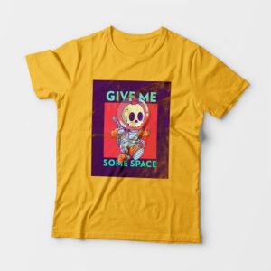Some Space Kid's Unisex Golden Yellow Round Neck T-Shirt