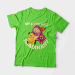 Imaginary Kid's Unisex Liril Green Round Neck T-Shirt