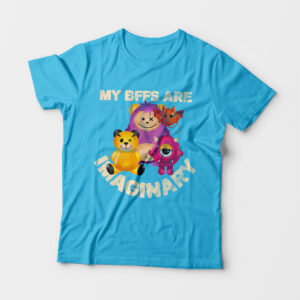 Imaginary Kid's Unisex Sky Blue Round Neck T-Shirt