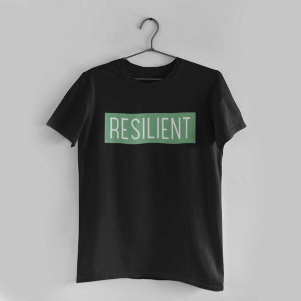 Resilient Black Round Neck T-Shirt