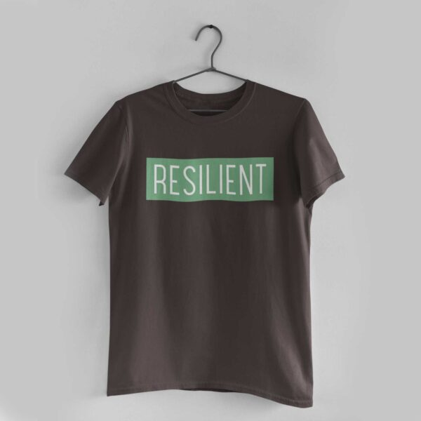 Resilient Charcoal Grey Round Neck T-Shirt