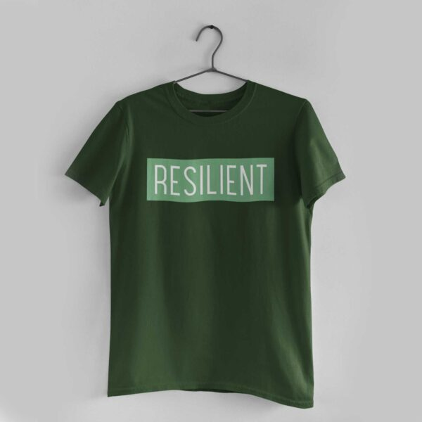 Resilient Olive Green Round Neck T-Shirt