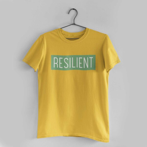 Resilient Golden Yellow Round Neck T-Shirt
