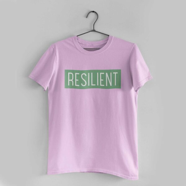Resilient Light Pink Round Neck T-Shirt