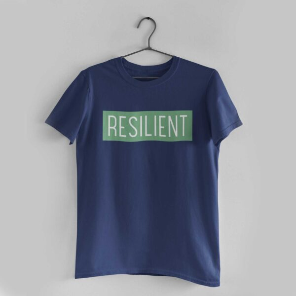 Resilient Navy Blue Round Neck T-Shirt