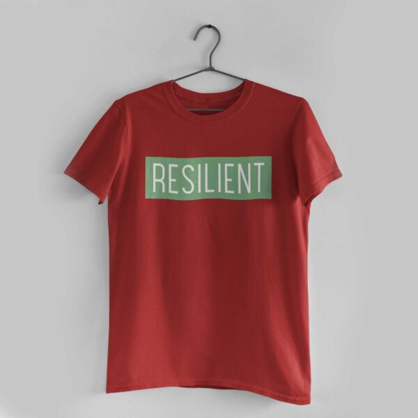 Resilient Red Round Neck T-Shirt