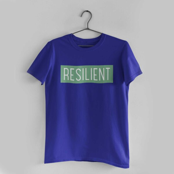 Resilient Royal Blue Round Neck T-Shirt