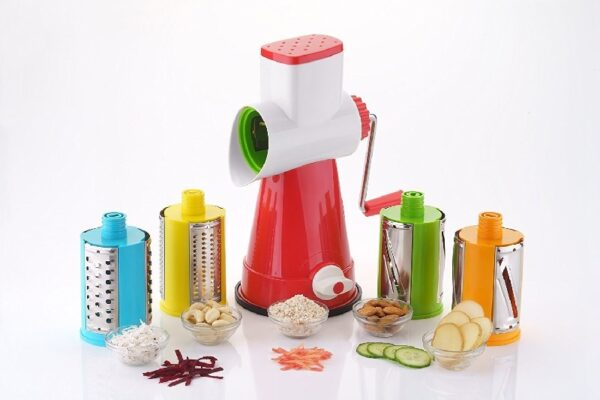 4 In One Rotary Drum Slicer Dicer Grater
