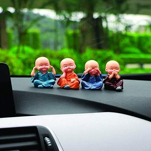 4 Pcs Monk Car Decoration