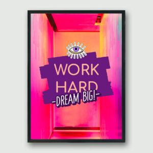 Dream Big Framed Poster